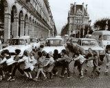 Les écoliers Affiche par Robert Doisneau