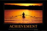 Prestatie, Achievement, tekst in het Engels Posters