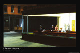 Yökyöpelit, n. 1942 Juliste tekijänä Edward Hopper