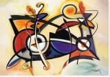 Combo Bedruckte aufgespannte Leinwand von Alfred Gockel