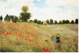 Papoulas Impressão em tela esticada por Claude Monet