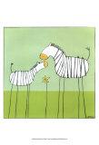 Stick-leg Zebra II Kunstdrucke von Erica J. Vess