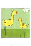 Stick-leg Giraffe I Poster von Erica J. Vess