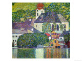 Kirche in Unterach Am Attersee, Church in Unterach on Attersee Giclee-trykk av Gustav Klimt
