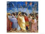 The Kiss of Judas, Mural Giclée-tryk af  Giotto di Bondone
