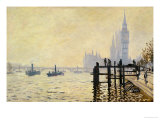 El Támesis en Westminster Lámina giclée por Claude Monet