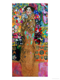 Dame Mit Faecher (Maria Munk) Lady with Fan, 1917/18 Impressão giclée por Gustav Klimt
