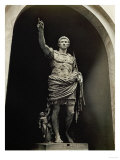Emperor Augustus in Military Dress, Marble Figure from the Prima Porta Giclee-trykk