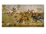 Battle Between Alexander the Great and King Dareios (Battle of Issos) Giclée-tryk