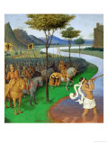 Caesar Crossing the Rubicon Giclee Print by Jean Fouquet