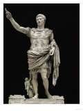 Emperor Augustus in Military Dress, Marble Figure from the Prima Porta Impressão giclée