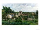 The Hermitage in Pontoise, 1867 Reproduction procédé giclée par Camille Pissarro