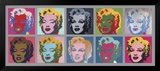 10 Marilyns, 1967 Art by Andy Warhol