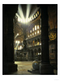 Interior of the Hagia Sophia, Built 533-537 CE Giclée-tryk