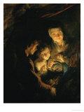 Old Woman with Brazier, circa 1618-1620 Giclée-vedos tekijänä Peter Paul Rubens