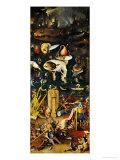 Le jardin des plaisirs terrestres: L'enfer et ses damnations, panneau droit d'un triptyque, 1500 Reproduction procédé giclée par Hieronymus Bosch