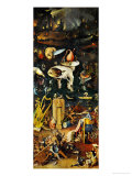 Hell and Its Punishments, Right Panel from the Garden of Earthly Delights Triptych Giclée-Druck von Hieronymus Bosch