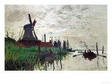 Windmill at Zaandam (Netherlands), 1871 Giclee Print by Claude Monet