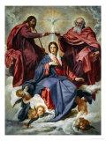 La coronación de la Virgen Lámina giclée por Diego Velazquez
