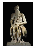 Moses, from the Tomb of Pope Julius II in San Pietro in Vincoli, Rome Giclée-tryk af Michelangelo Buonarroti,