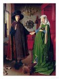 Portrait of Giovanni Arnolfini and his Wife, c.1434 ジクレープリント : ヤン・ファン・エイク