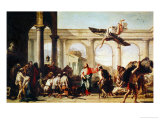 Christ Heals the Paralytic Stampa giclée di Giovanni Battista Tiepolo