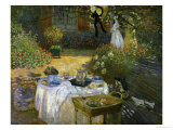 Le Dejeuner (Luncheon in the Artist's Garden at Giverny), circa 1873-74 Giclée-tryk af Claude Monet