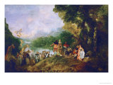 The Embarkment to Cythera Giclée-tryk af Jean Antoine Watteau