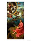 Altarpiece of St. John the Baptist and St. John the Evangelist Giclée-tryk af Hans Memling