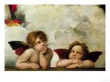 The Two Angels Reproduction procédé giclée par  Raphael