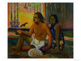 Do Not Work, Tahitians in a Room, 1896 Giclee Print by Paul Gauguin