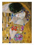 The Kiss, Der Kuss, Close-Up of Heads Giclée-tryk af Gustav Klimt
