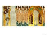 The Final Chorus of Beethoven's 9th Symphony Giclée-tryk af Gustav Klimt