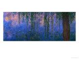 Waterlilies and Willows Lámina giclée por Claude Monet