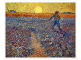 Le semeur au soleil couchant Reproduction procédé giclée par Vincent van Gogh
