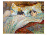 The Bed (Le Lit), 1892 Gicléedruk van Henri de Toulouse-Lautrec