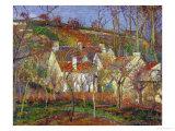 Red Roofs, a Village Corner, Winter, 1877 Reproduction procédé giclée par Camille Pissarro