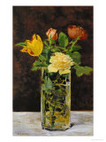 Roses and Tulips, 1882 Giclée-tryk af Edouard Manet