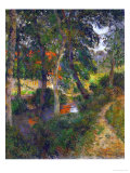 Father Jean's Walk or the Red Roofs, 1886 Giclee Print by Paul Gauguin