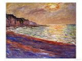 Beach at Pourville, Sunset, 1882 Giclée-Druck von Claude Monet