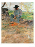 The Young Routy, a Farmboy Who Worked at the Family's Estate in Celeyran, 1883 Stampa giclée di Henri de Toulouse-Lautrec