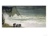 High Seas in Etretat, 1868-69 Giclée-Druck von Claude Monet