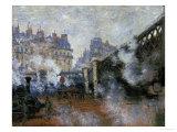 Le Pont De L'Europe, Gare Saint-Lazare, 1877 Giclee Print by Claude Monet