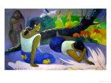 Pleasures of the Evil Spirit, (Arearea No Vareua Ino), 1894 Reproduction giclée Premium par Paul Gauguin