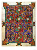 Carpet Page from the Lindisfarne Gospels, Around 698-700, Design in the Shape of a Cross Stampa giclée
