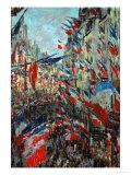 Paris, Rue St. Denis: Celebration of June 30, 1878 Giclee Print by Claude Monet