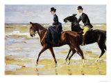 Riders on the Beach, 1903 Giclée-tryk af Max Liebermann