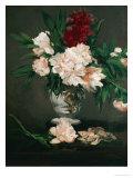 Vase with Peonies on a Pedestal, 1864 Giclée-tryk af Edouard Manet