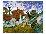 Street in Auvers (Les Toits Rouges), c.1890 Giclee-trykk av Vincent van Gogh