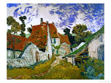 Street in Auvers (Les Toits Rouges), c.1890 Giclee Print by Vincent van Gogh
